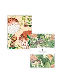 Creative Lab Amsterdam Blow Up/Flower Garden notebook set - per 6