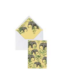 Creative Lab Amsterdam Oscar the Elephant Greeting Card - per 6