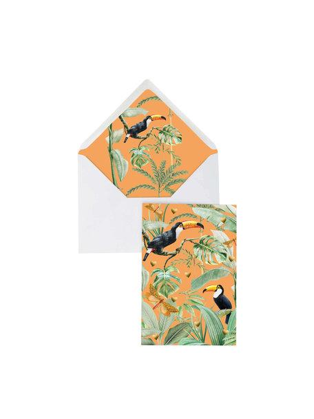 Creative Lab Amsterdam Flirting Toucans Greeting Card - per 6