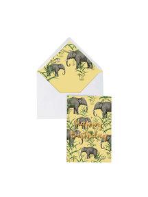 Creative Lab Amsterdam Oscar the Elephant Greeting Card - Happy Birthday - per 6