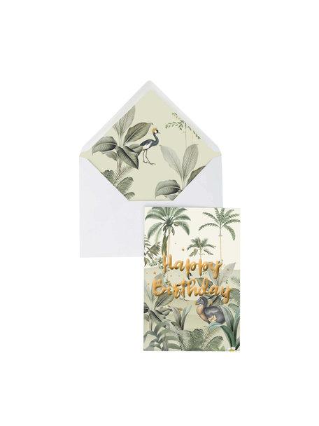 Creative Lab Amsterdam Dodo Oasis Greeting Card - Happy Birthday - per 6