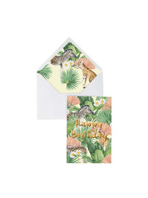 Creative Lab Amsterdam Flower Garden Greeting Card - Happy Birthday - per 6