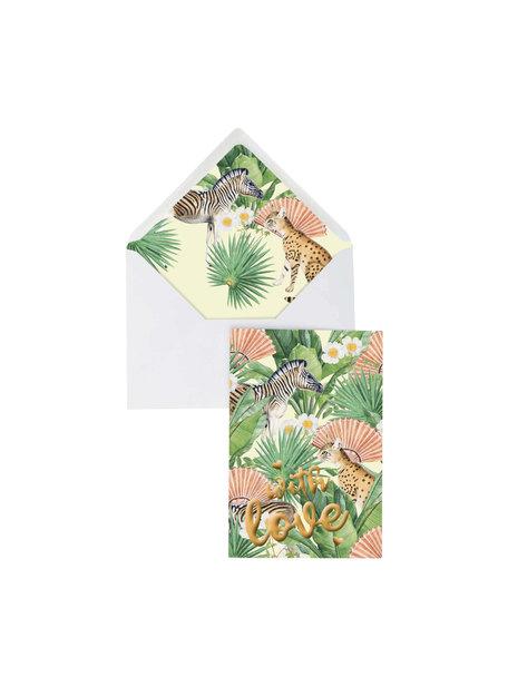 Creative Lab Amsterdam Flower Garden Greeting Card - With Love - per 6