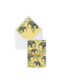 Creative Lab Amsterdam Oscar the Elephant Greeting Card- Merci - per 6
