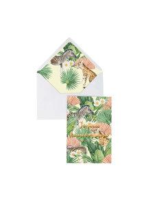 Creative Lab Amsterdam Flower Garden Greeting Card - Joyeux Anniversaire - per 6
