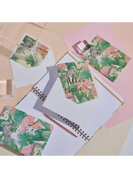 Creative Lab Amsterdam Flower Garden Greeting Card - Alles Liebe - per 6
