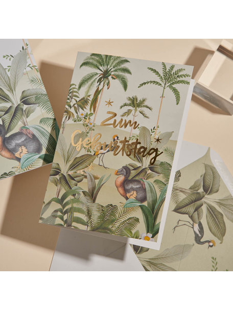 Creative Lab Amsterdam Dodo Oasis Greeting Card - Alles Gute zum Geburtstag - per 6