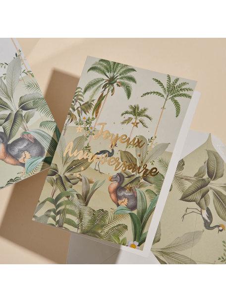 Creative Lab Amsterdam Dodo Oasis Greeting Card - Joyeux Anniversaire - per 6