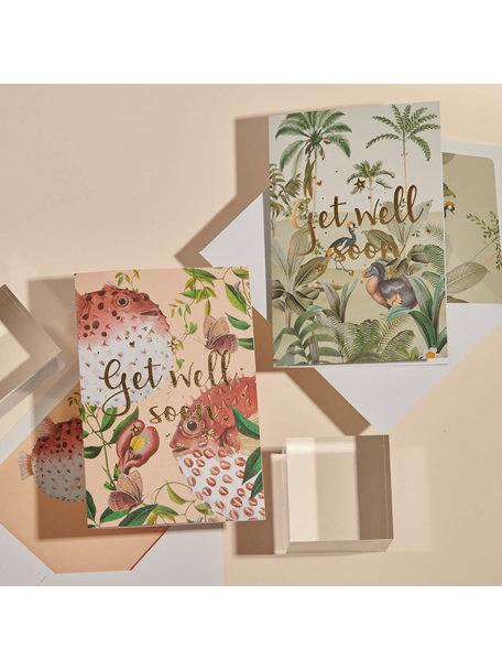 Creative Lab Amsterdam Dodo Oasis Greeting Card - Get Well Soon - per 6