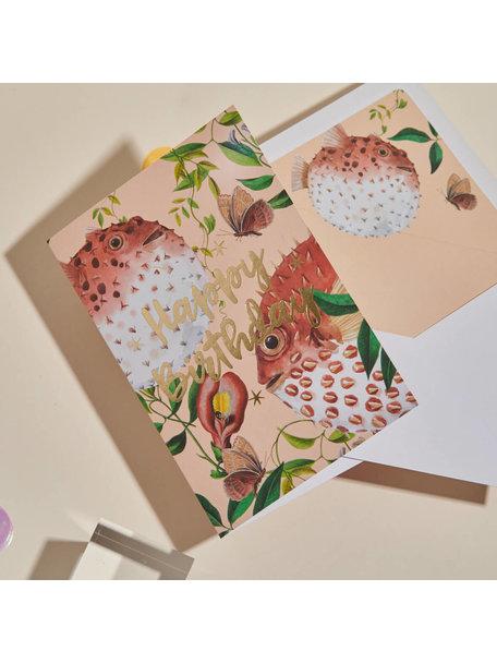 Creative Lab Amsterdam Blow Up Greeting Card - Happy Birthday - per 6