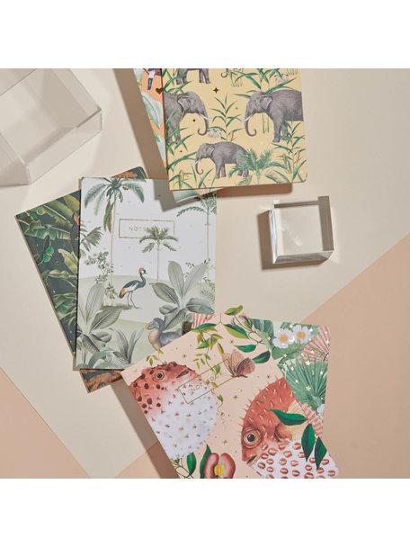 Creative Lab Amsterdam Dodo Oasis / Mighty Jungle notebook set - per 6