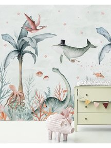 Creative Lab Amsterdam Flying Whale Wallpaper