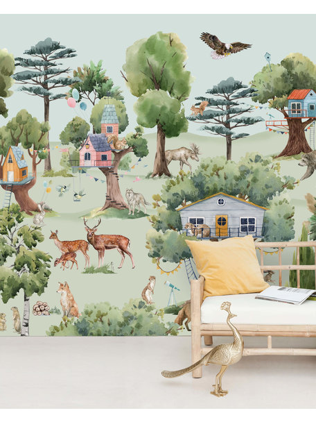 Creative Lab Amsterdam Treehouse in the Forest Wallpaper