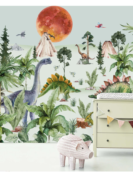 Creative Lab Amsterdam Dino by Moonlight Wallpaper Mural