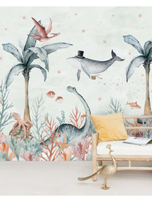 Creative Lab Amsterdam Flying Whale Wallpaper Mural
