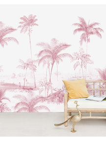 Creative Lab Amsterdam Exotic palms Pink Wallpaper Mural