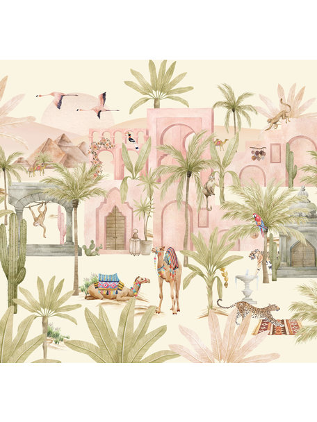 Creative Lab Amsterdam Pink Oasis Wallpaper Mural