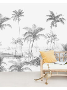 Creative Lab Amsterdam Exotic palms  Black & White Wallpaper