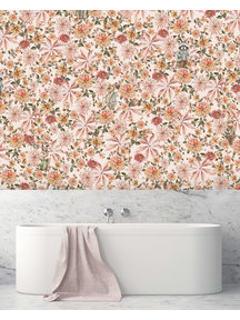 Creative Lab Amsterdam Cute mister Flower Bathroom Wallpaper