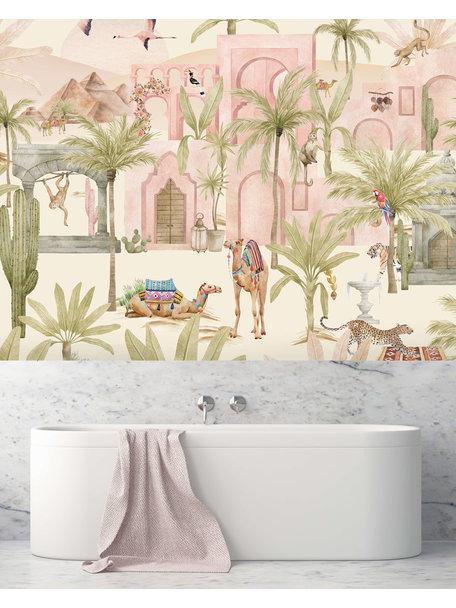 Creative Lab Amsterdam Pink Oasis Bathroom Wallpaper
