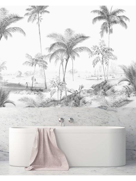 Creative Lab Amsterdam Excotic Palms Balck&White Bathroom Wallpaper