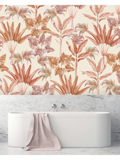 Creative Lab Amsterdam Terra leaves Bathroom Wallpaper