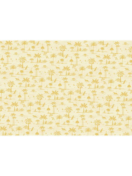 Creative Lab Amsterdam Jungle Silhouette Yellow Wallpaper Mural