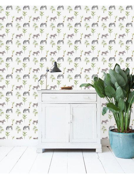 Creative Lab Amsterdam Zebra Palm Wallpaper on roll