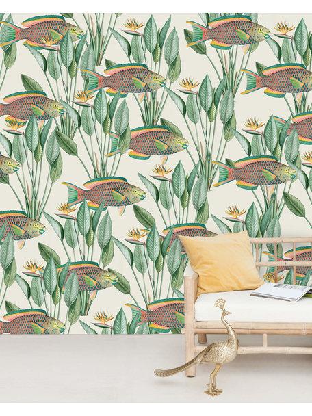 Creative Lab Amsterdam Parrot Fish Wallpaper Mural