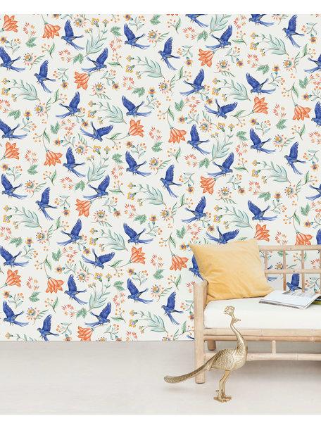 Creative Lab Amsterdam Paisley Parrot Wallpaper Mural