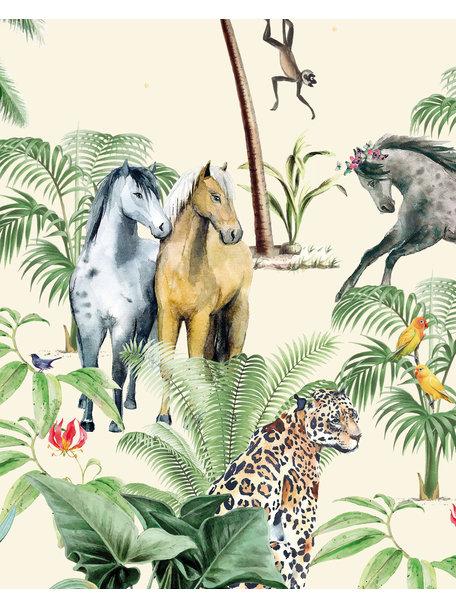 Creative Lab Amsterdam Jungle Horse Wallpaper