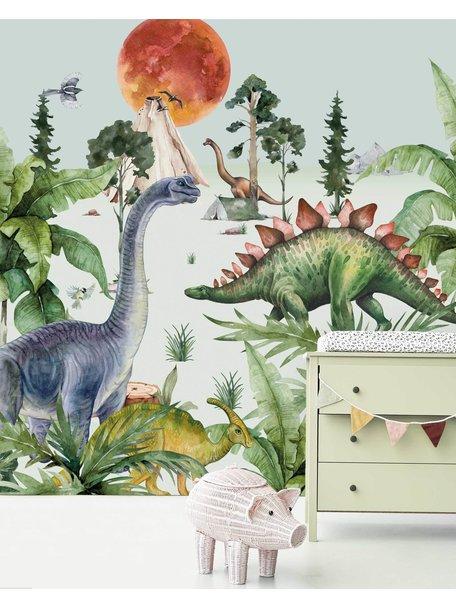 Creative Lab Amsterdam Dino By Moonlight Wallpaper
