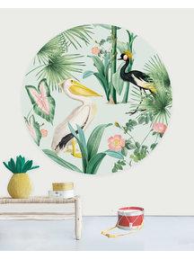 Creative Lab Amsterdam Pelican Wallpaper Circle