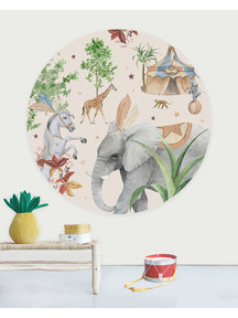 Creative Lab Amsterdam Elephant Wallpaper Circle