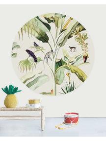 Creative Lab Amsterdam Baby bananas Wallpaper Circle