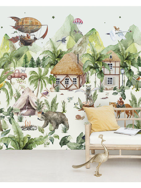 Creative Lab Amsterdam Magical village Wallpaper Mural