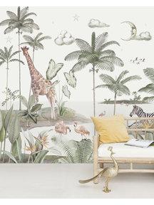 Smiling Jungle Moon Wallpaper