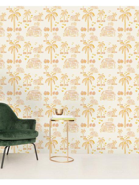 Creative Lab Amsterdam Maui Beach Pink Wallpaper
