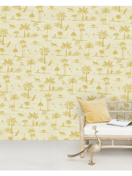Creative Lab Amsterdam Jungle Silhouette Yellow Wallpaper