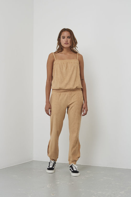 Rabens saloner Nell towelling strap top Gold