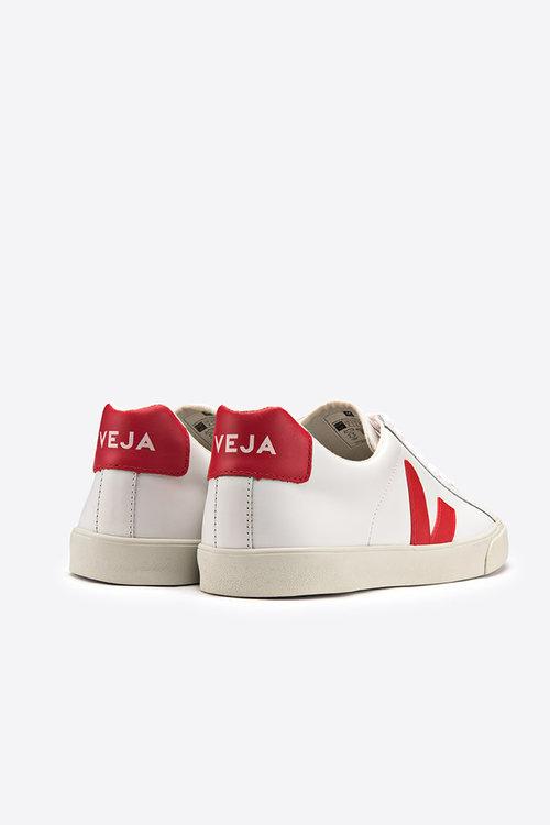 Veja Esplar low logo leather extra white pekin