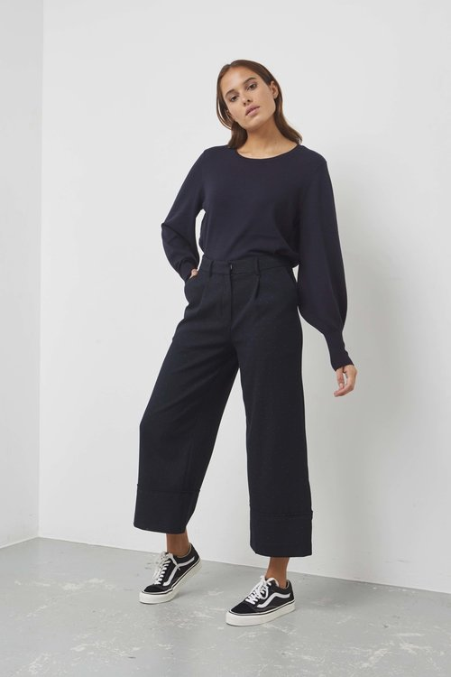 Selected Femme Gabby Cropped Wide Pants