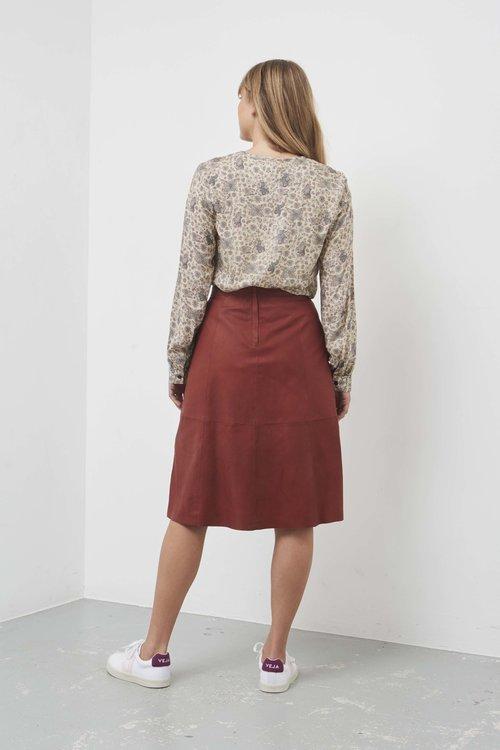 Marla Leather Skirt