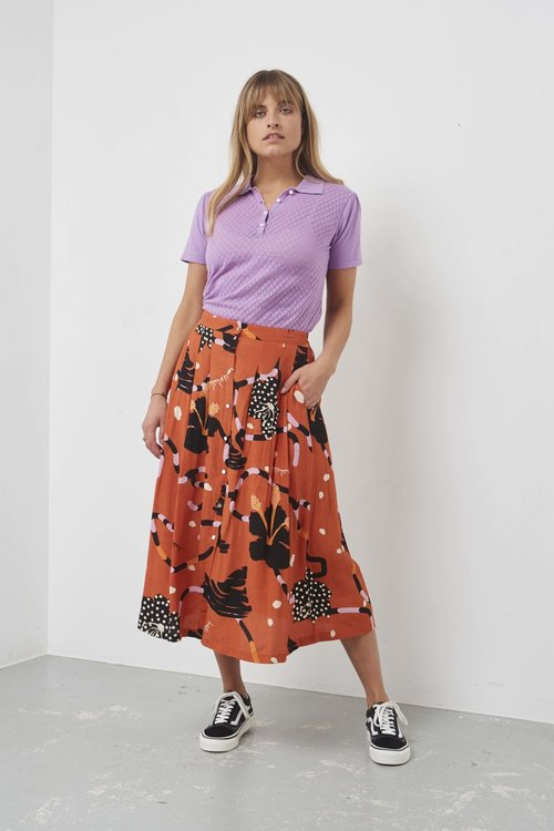 Selected Femme Kiara Midi Skirt