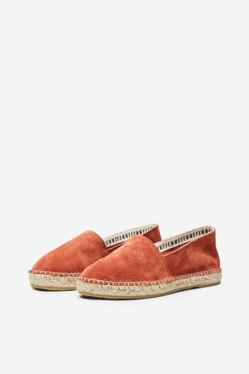 Selected Femme Marie Suede Espadrilles Picante