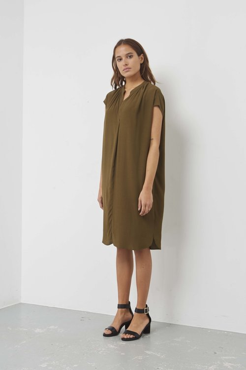 By Bar Victoria Crepe Dress Earth