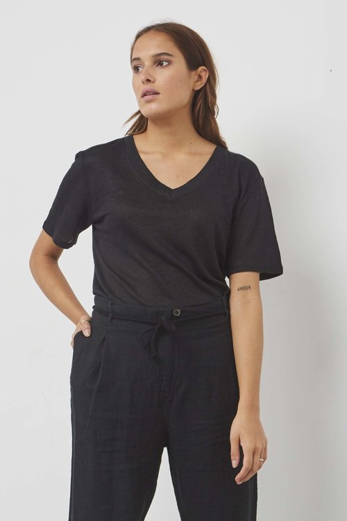 Ruby Tuesday Jildau Linnen T-shirt Black