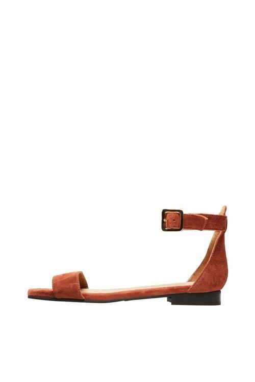 Selected Femme Merle Suede Flat Sandal