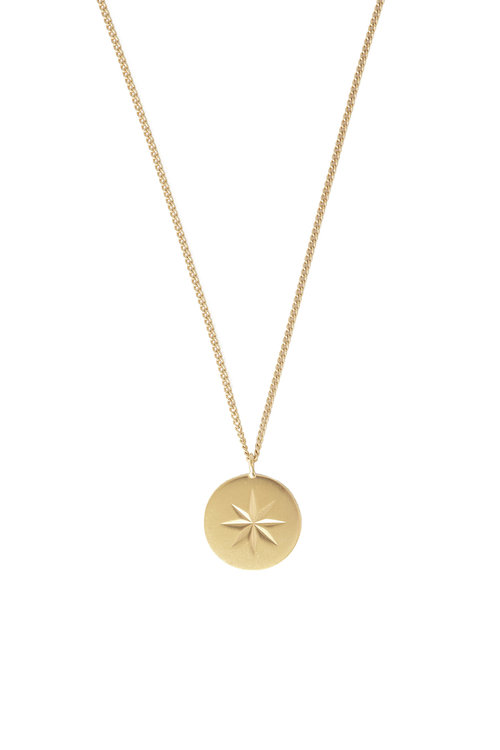 Mimi et Toi Etoile round necklace gold