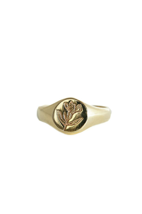 Mimi et Toi Signet Flower Ring